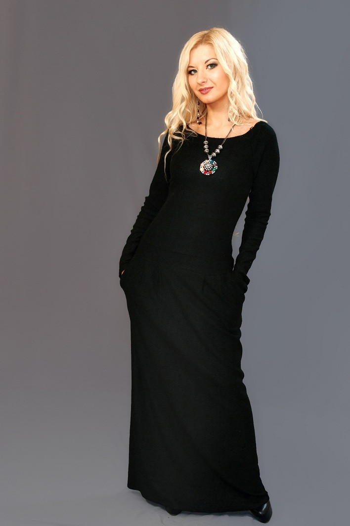 Женское ангоровое  платье 8078 (42-60)