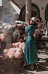 Длинное платье на запаха в мелкий принт летнее приталенный с длинным рукавом (р. S-M) 66032706Q, фото 4