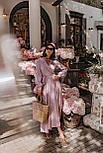 Длинное платье на запаха в мелкий принт летнее приталенный с длинным рукавом (р. S-M) 66032706Q, фото 6