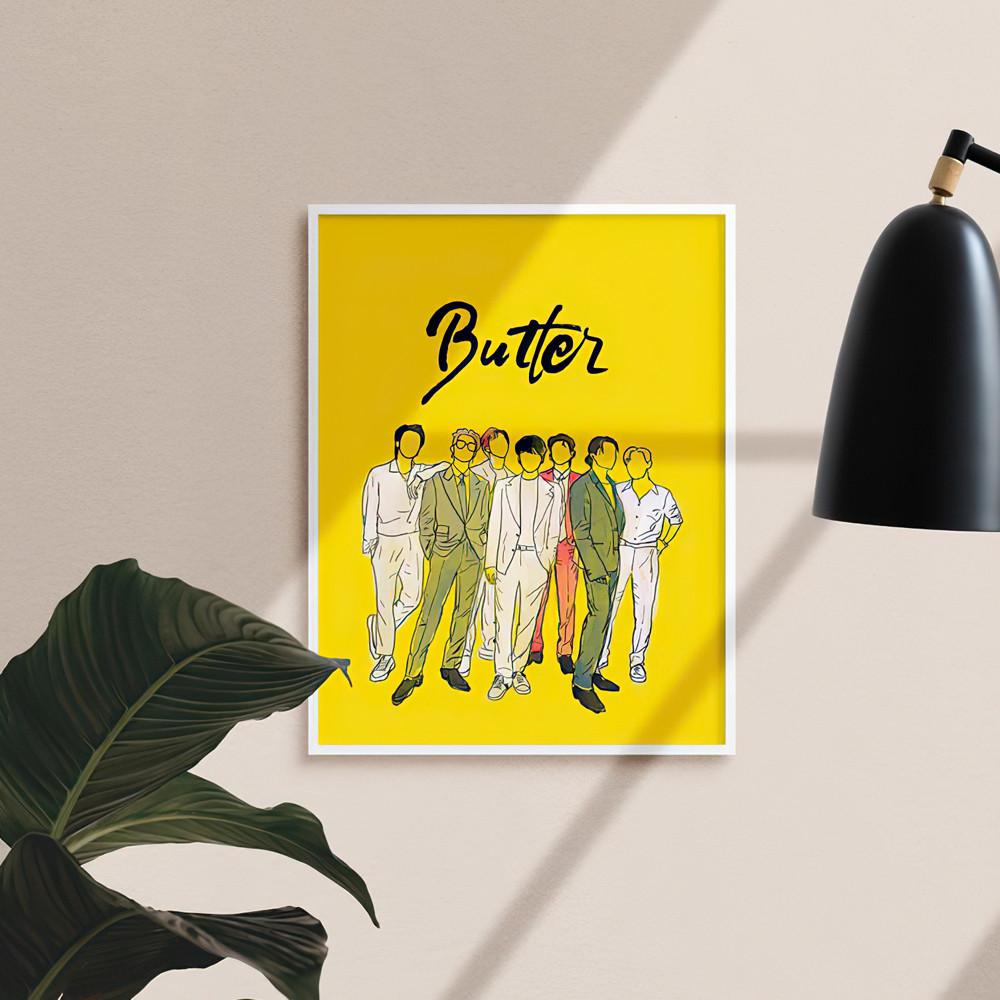 Постер BTS Butter  плакат формат А3