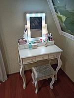 Гримерный туалетный столик косметический дизайнерский стол для визажа будуарный макияжный столик дамский