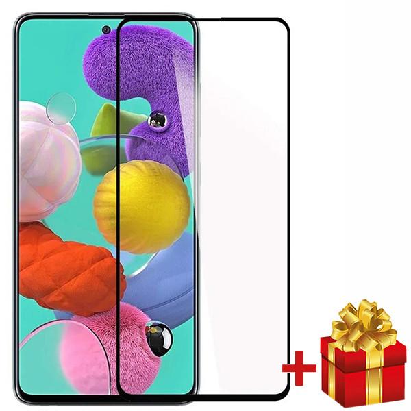 Защитное стекло Samsung А90 На весь экран Черный
