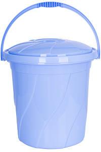 Відро з кришкою Violet House 20 л 34х34х32 см BLUE 0046