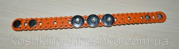 ажурный кожаный браслет нуса , оранжевый