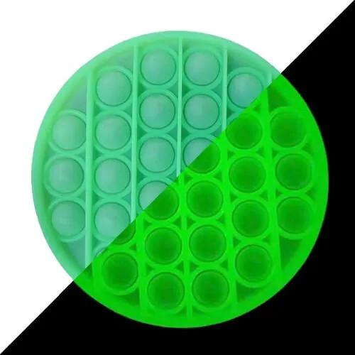 Антистрес Pop it Поп іт Коло фосфорний нескінченна пупырка 12,5 х 12,5 см
