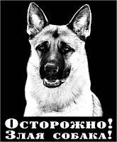 Злая собака фото табличка
