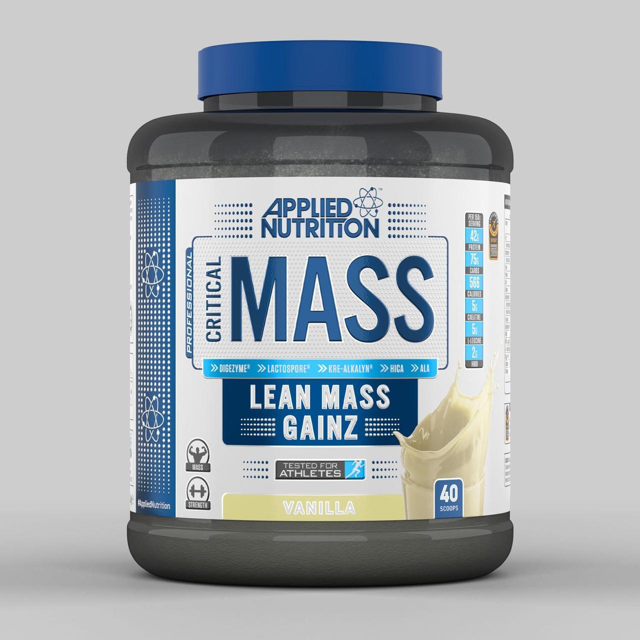 Гейнер для набора массы Applied Nutrition Critical Mass 2400 грамм Ваниль
