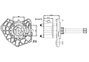 Коробка отбора мощности (КОМ) G 1319, G 2811, G 21116, G 2219, G 24016 для MERCEDES, фото 2