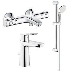 Набор смесителей Grohe GRT800+BauLoop 34550TM для ванной (23762000+34567000+27598001)