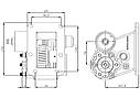 Коробка отбора мощности (КОМ) MO 35S5, MO 35S5, MO 35S6 для MITSUBISHI, фото 2