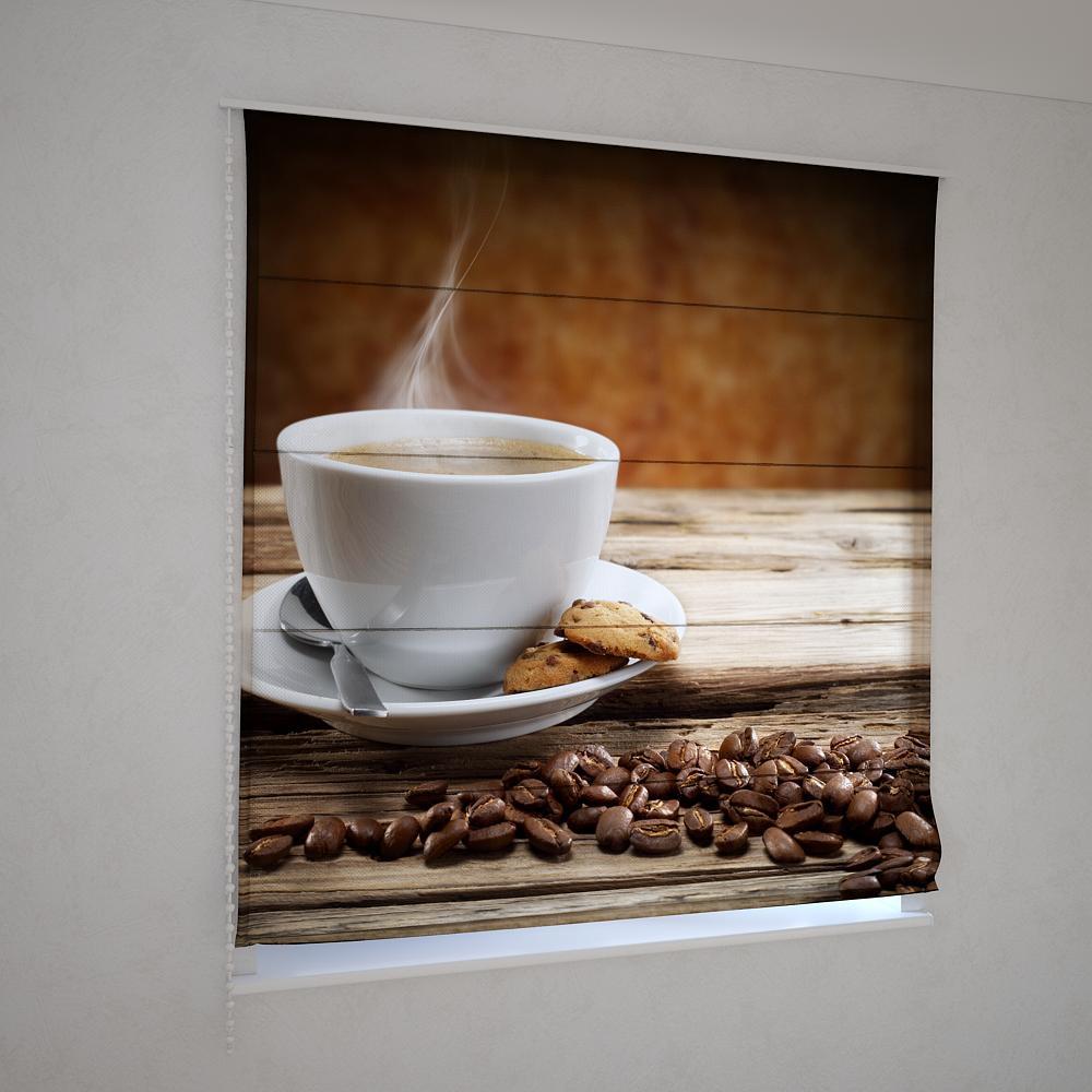 Римські фотошторы кавовий аромат