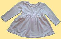 Нарядное белое велюровое детское платье для девочки, р.92,110,116