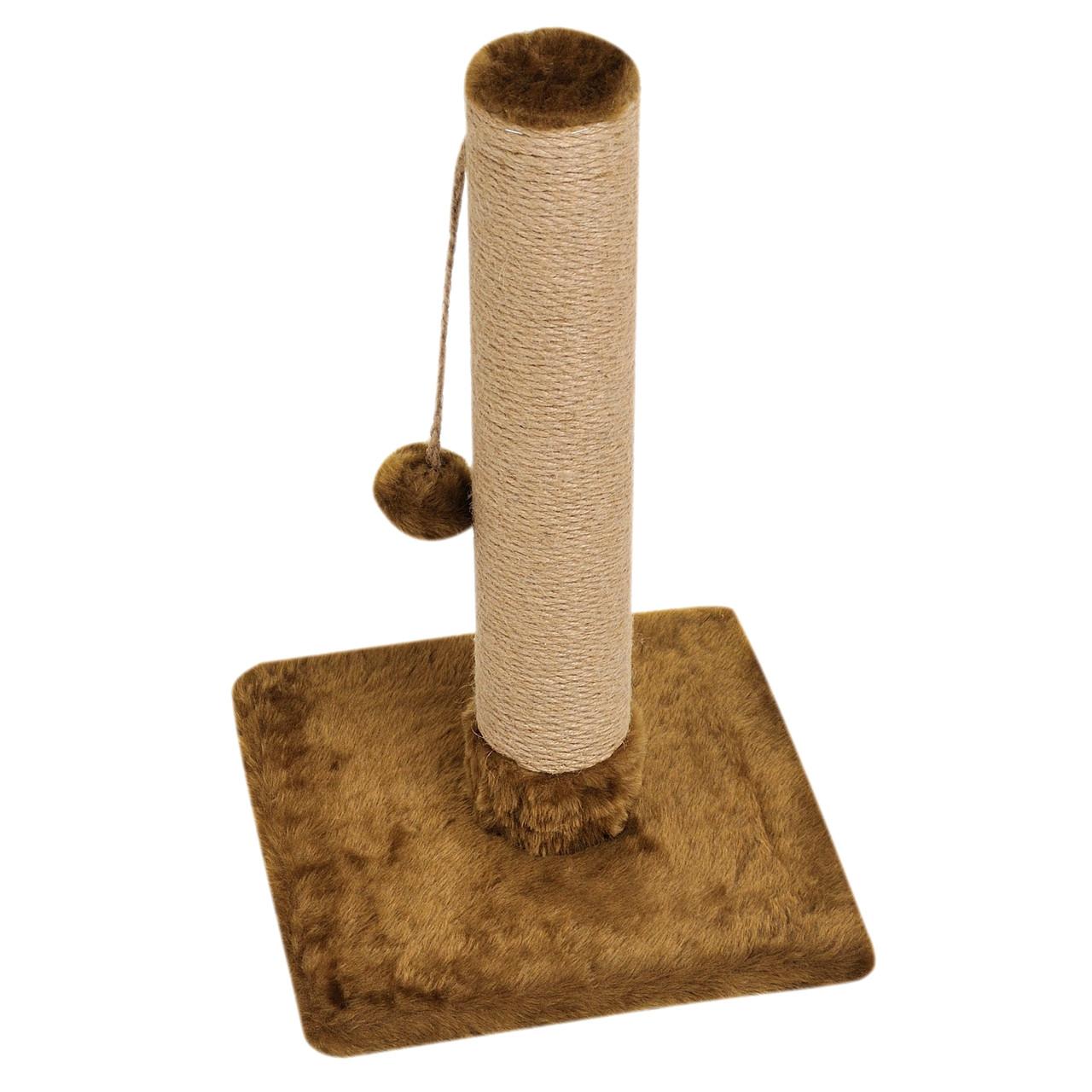 Когтеточка-стовпчик 33х33х50 см (дряпка) для кішки Коричневий