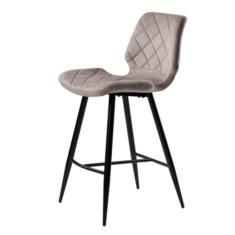 Diamond полубарный стул тёплый серый