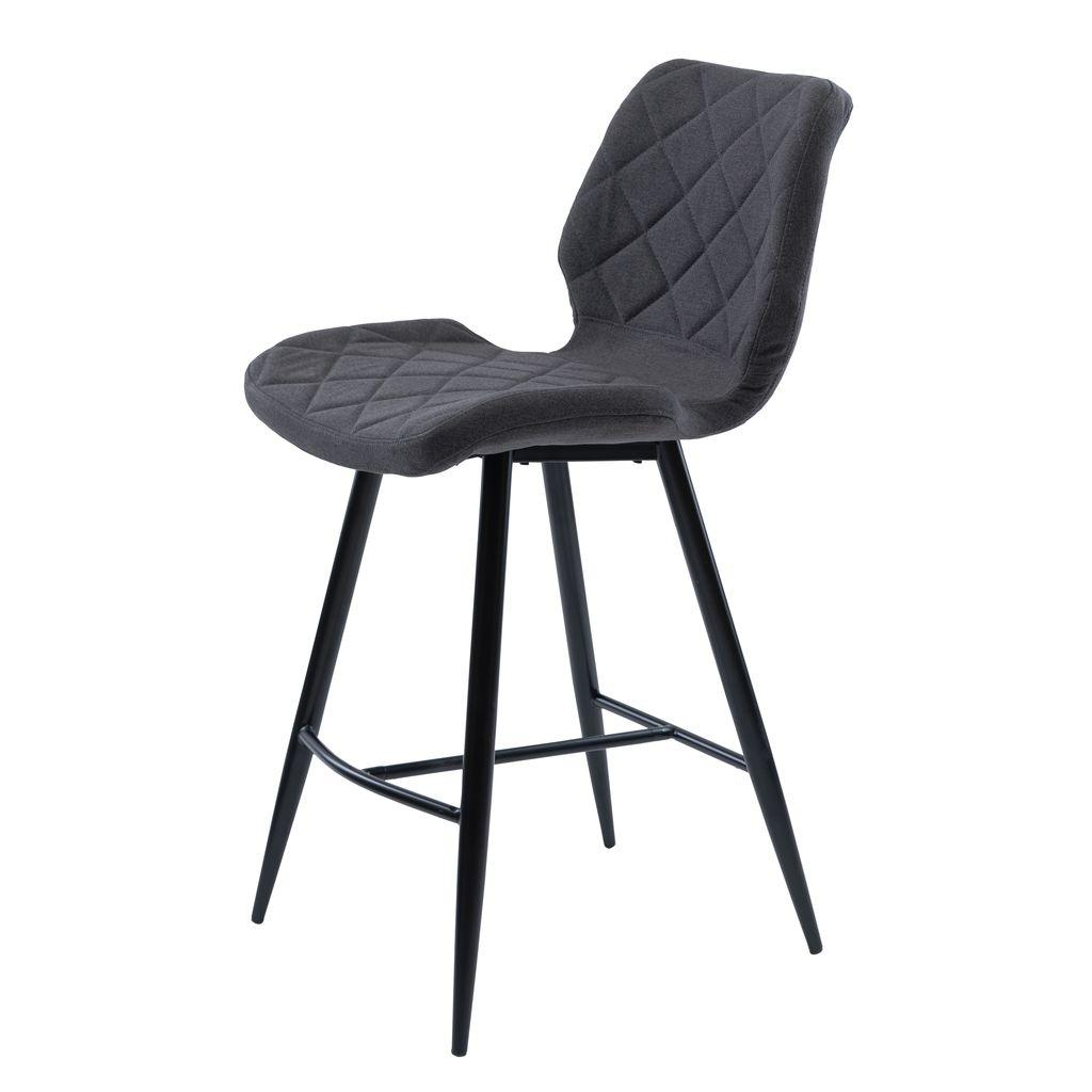 Diamond полубарный стул серый графит