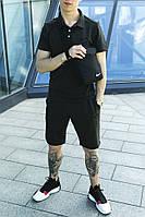 Мужской спортивный костюм Nike летний + Сумка Nike в подарок трикотажные футболка + шорты Nike темно-серый