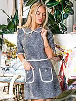 Теплое платье в стиле SHANEL S M L