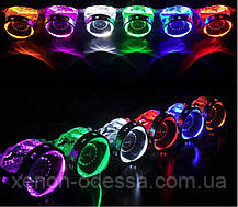 СИНИЕ Дьявольские Глазки для подсветки любых линз / Devil Eyes Rings for Projector Lens (BLUE), фото 2