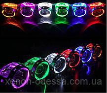 СИНИЕ Дьявольские Глазки 360 для подсветки любых линз / 360 Devil Eyes Rings for Projector Lens (BLUE), фото 2