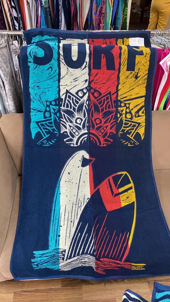 Рушник махровий ТМ Речицький текстиль, На яскравій хвилі 81х160 см