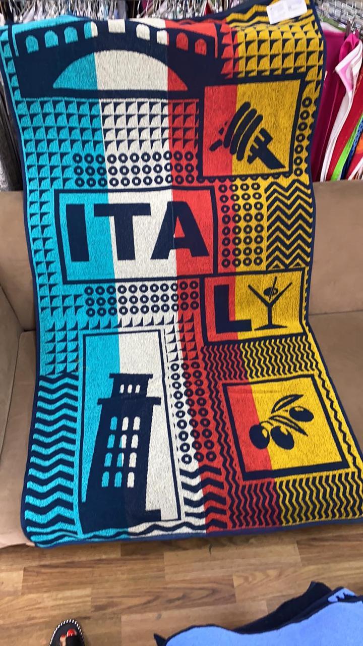 Полотенце махровое ТМ Речицкий текстиль, Тур по Италии 81х160 см