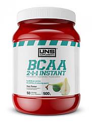 Аминокислота, UNS, BCAA 2-1-1 Instant, 500 г