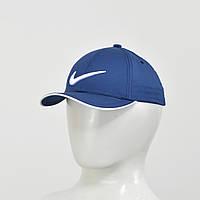 Бейсболка Nike (тонкий хлопок) синий+белый