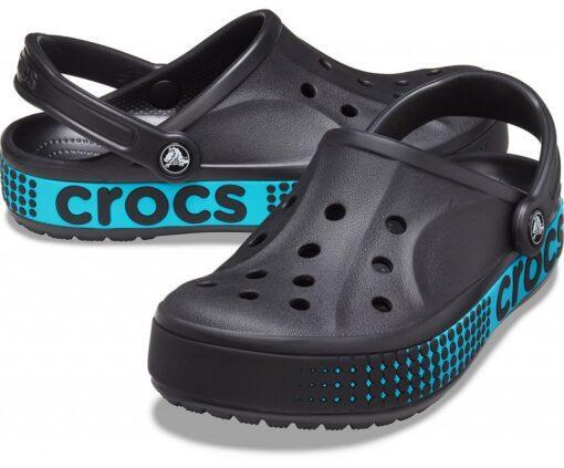 Мужские кроксы Crocs Bayaband Logo Motion черные 42 р.