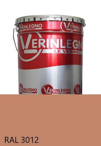 Краска полиуретановая для мебели Verinlegno Италия, Цвет  RAL 3012, двухкомпонентная, фото 2