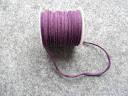 Шнур замшевий, 3 мм, фіолетовий