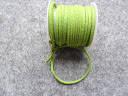 Шнур замшевий, 3 мм, світло-зелений