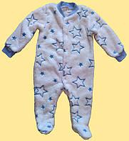 """Человечек детский теплый голубой, """"Звездочки"""", 74 см"""
