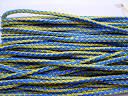 Шнур синтетичний, кольоровий. Жовто-синій, 5 мм