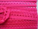 Резинка с ажурным краем, ярко-розовая