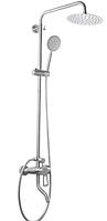 Душевая колонна из смесителем ZERIX HSB-009 -J система душевая из нержавеющей стали с тропическим душем