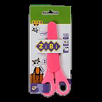 Ножницы детские 135мм с линейкой в чехле розовый KIDS Line