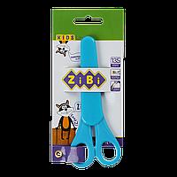 Ножницы детские 135мм с линейкой в чехле синий KIDS Line