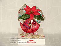 Новогодний  шар с конфетами на коробке Raffaello