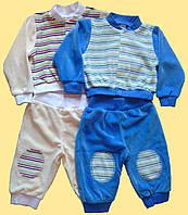 Голубой велюровый костюм для мальчика