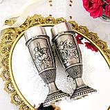 Два високих олов'яних келиха на ніжці, харчове олово, Шедеври живопису, 250 мл, фото 6