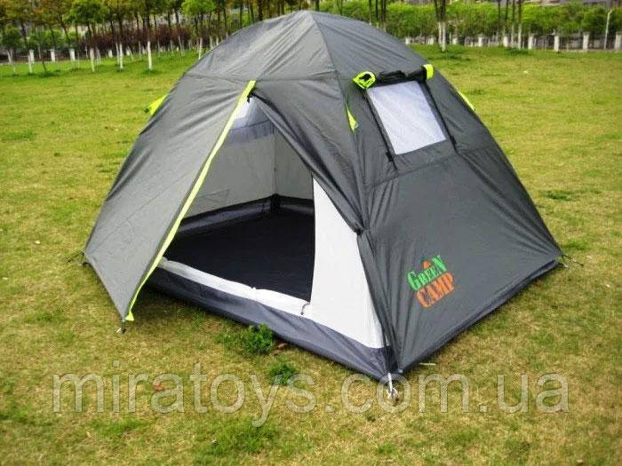 Двомісна Палатка туристична Green Camp 1001A, 210 х 200 х 135 див.