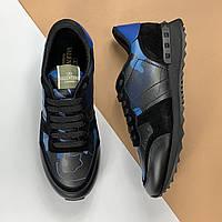 Кросівки чоловічі Valentino Rockrunner чорні (Валентино) арт. 74-46, фото 1