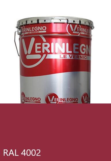 Краска полиуретановая для мебели Verinlegno Италия, Цвет  RAL 4002, двухкомпонентная