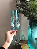 Келих для шампанського Blush blue, фото 7