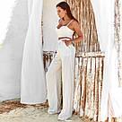 Белый брючный костюм тройка льняной, фото 2