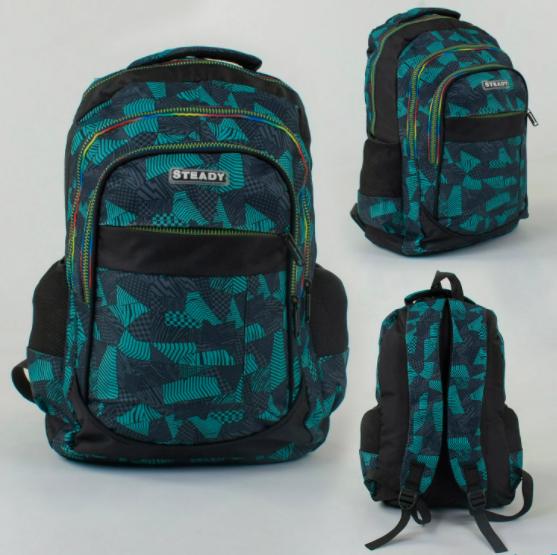 Детский Подростковый Рюкзак Портфель школьный для мальчика C 43714 с мягкой спинкой синий