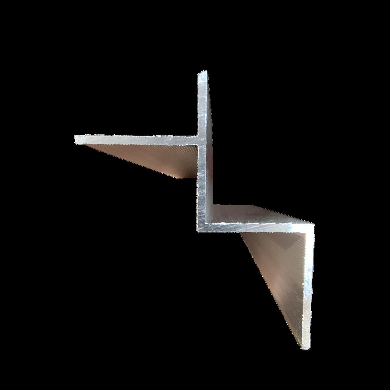 Алюминиевый профиль теневого шва 3м, м.пог.
