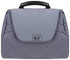 Коляска дитяча 2в1 універсальна з сумкою і підсклянником Adamex Hybryd Plus BR204 світло-сірий - сіра шкіра, фото 7