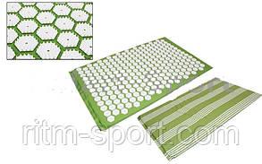 Килимок масажний Ипликатор (аплікатор) Кузнєцова (Acupressure mat) (р-р 80*50*2см), фото 2