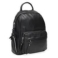 Женский кожаный рюкзак Borsa Leather K12045-black, фото 1